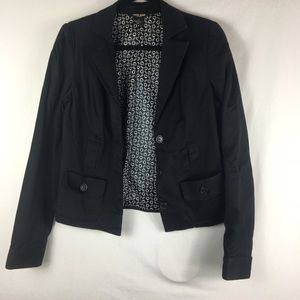 Guess black lined blazer size large